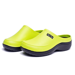 Fluro and Black Two Tone Clogs