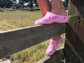 Pink Roses Garden Clogs Backdoorshoes®