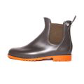 Jumpy Chelsea Boot  - Kaki Green & Brique Sole