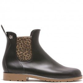 Jumpy Chelsea Boot  - Noir/Miel (Honey)