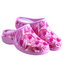 Load image into Gallery viewer, Pink Roses Garden Clogs Backdoorshoes®