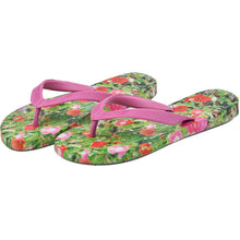Load image into Gallery viewer, Poppy & Cosmos Ladies Flip Flops