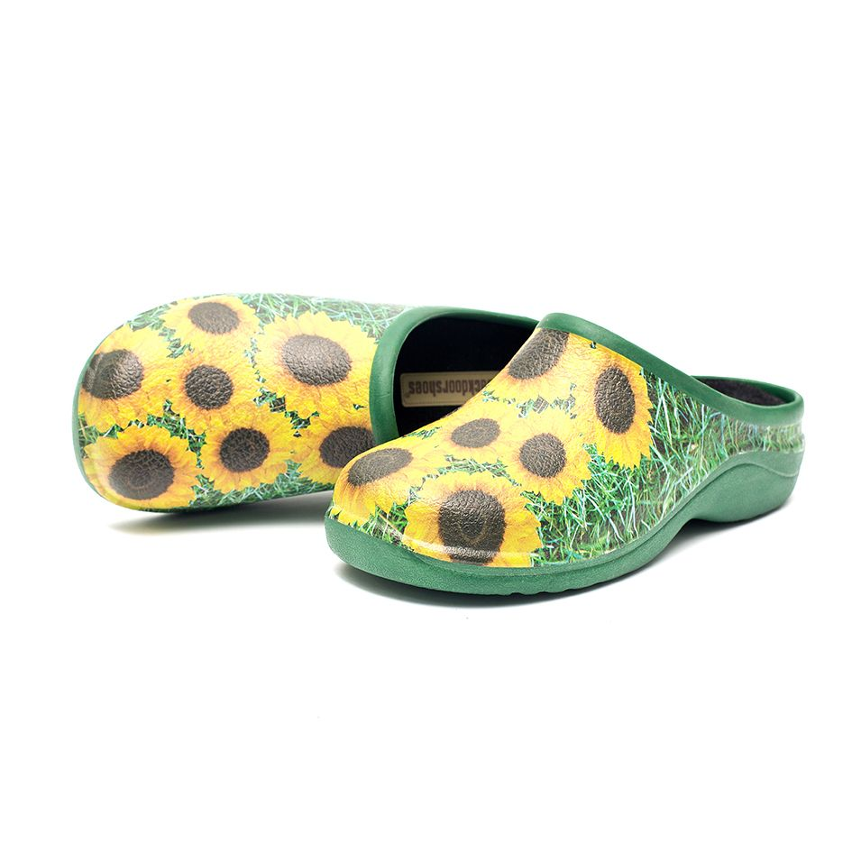 Sunflower & Grass Garden Clogs Backdoorshoes®