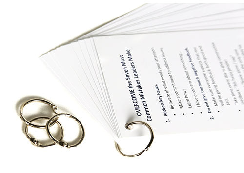 Loose Leaf Rings for Tip Cards