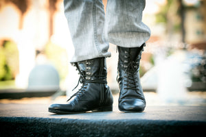 The King Dance Combat Boots Black