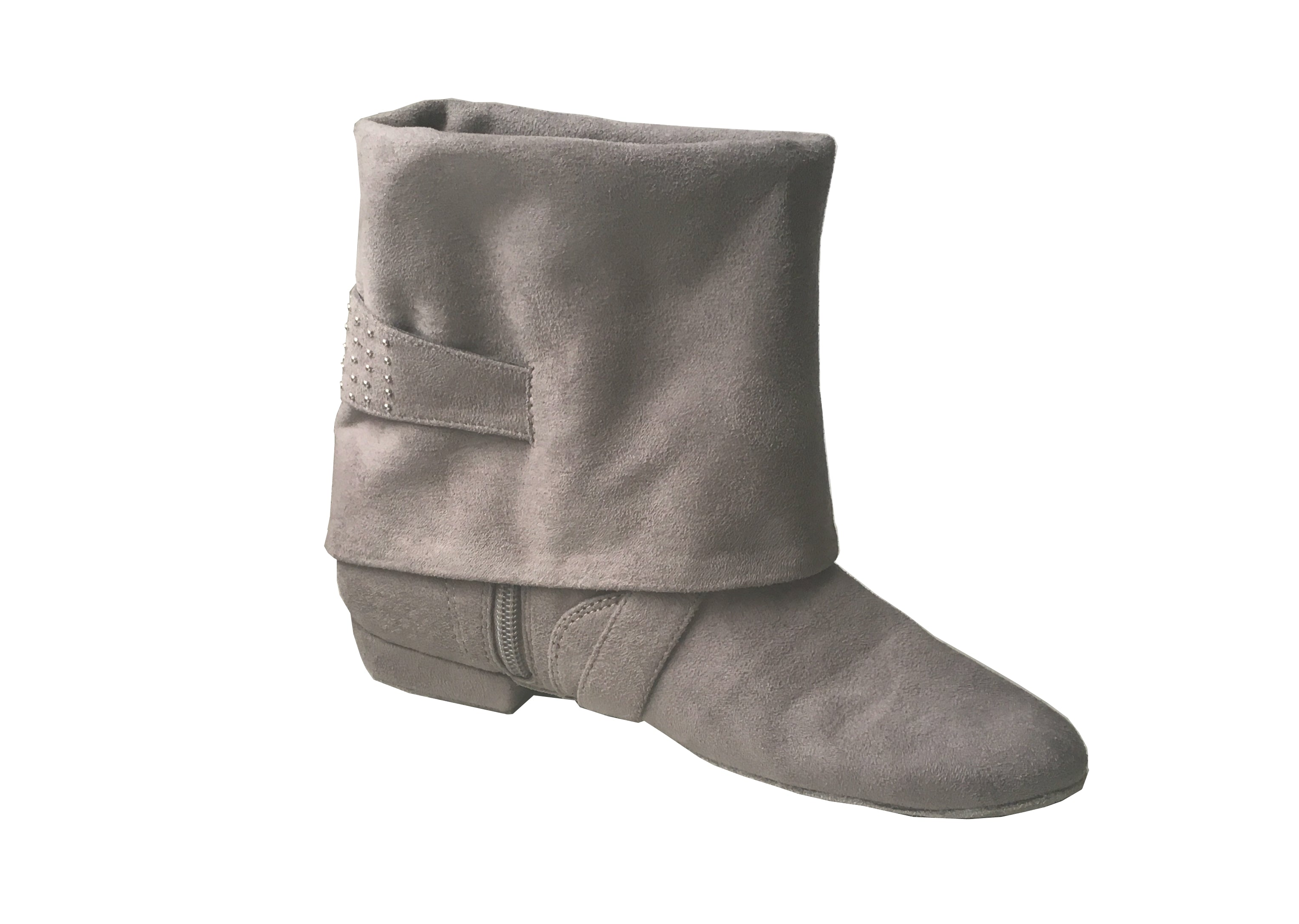 Aurora dance boot grey left inside folded down