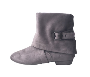 Aurora dance boot grey left side folded down