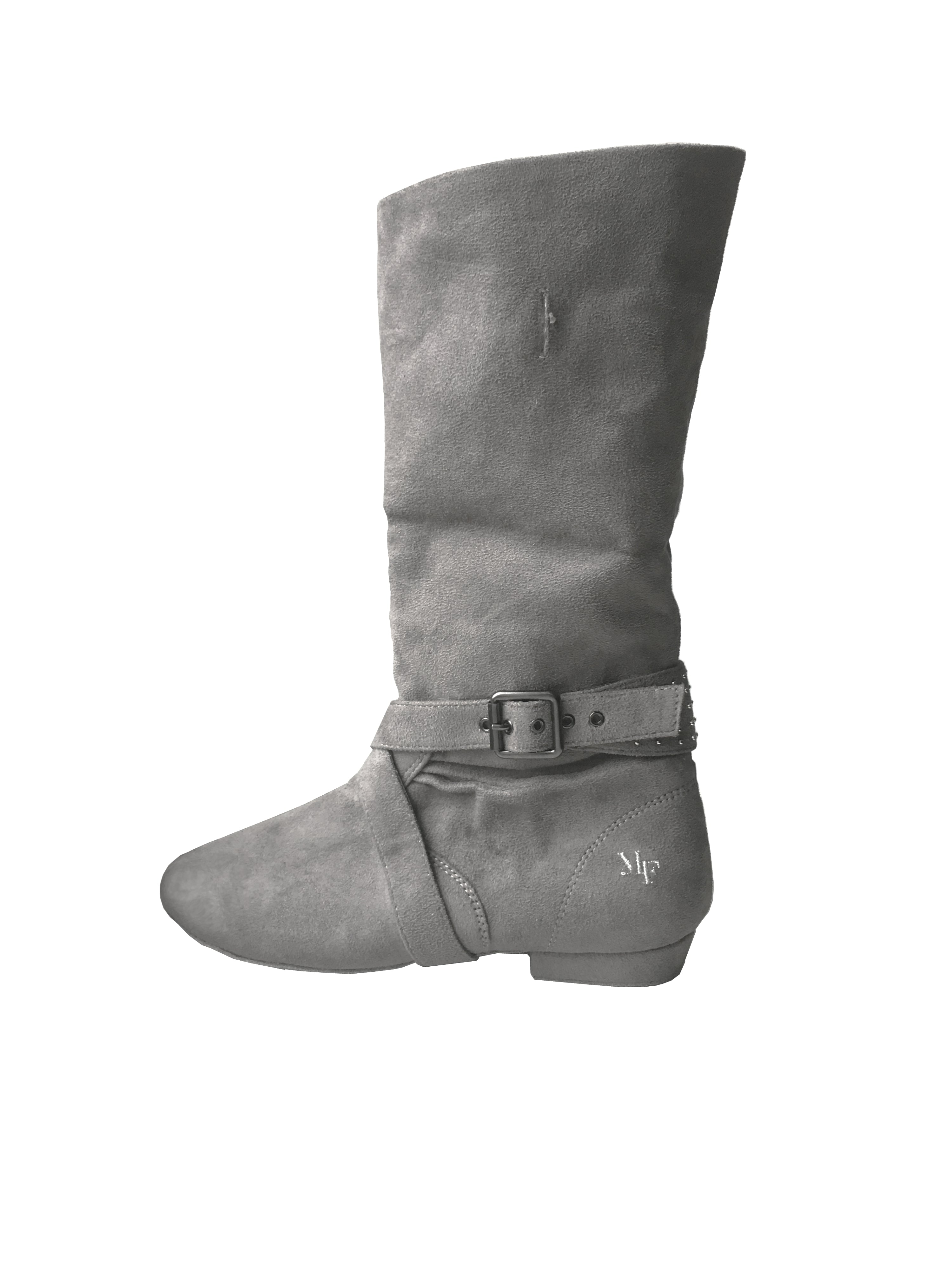 Aurora dance boot grey left side folded up