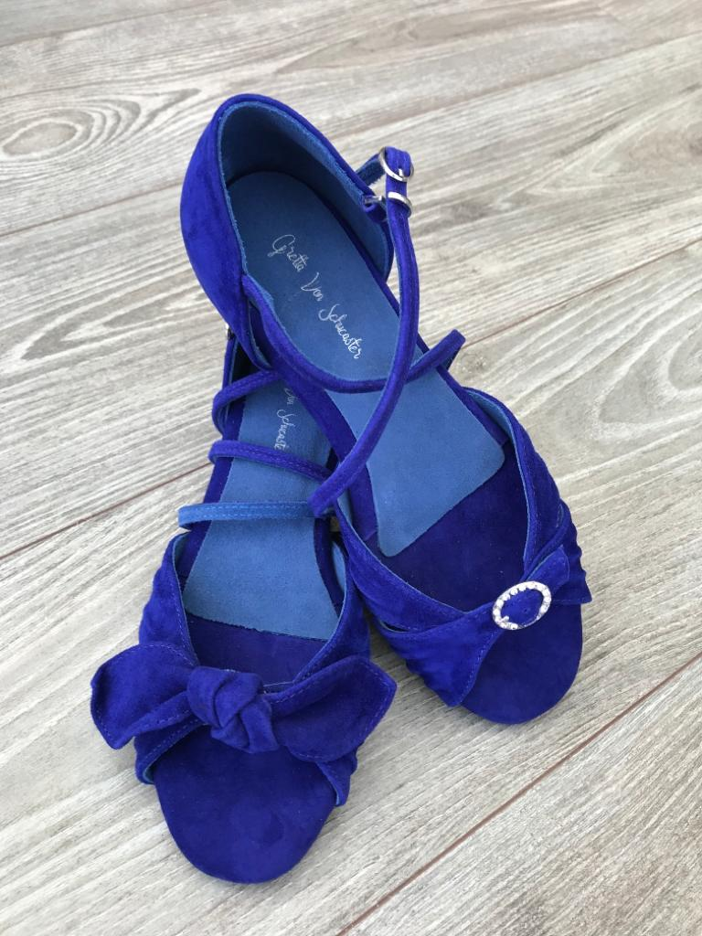 cobalt blue dance sandals