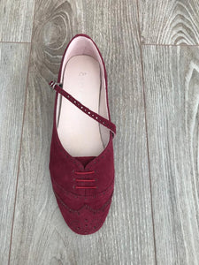 Swing Shoe burgundy top view