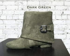 Aurora dance boot green left side folded down