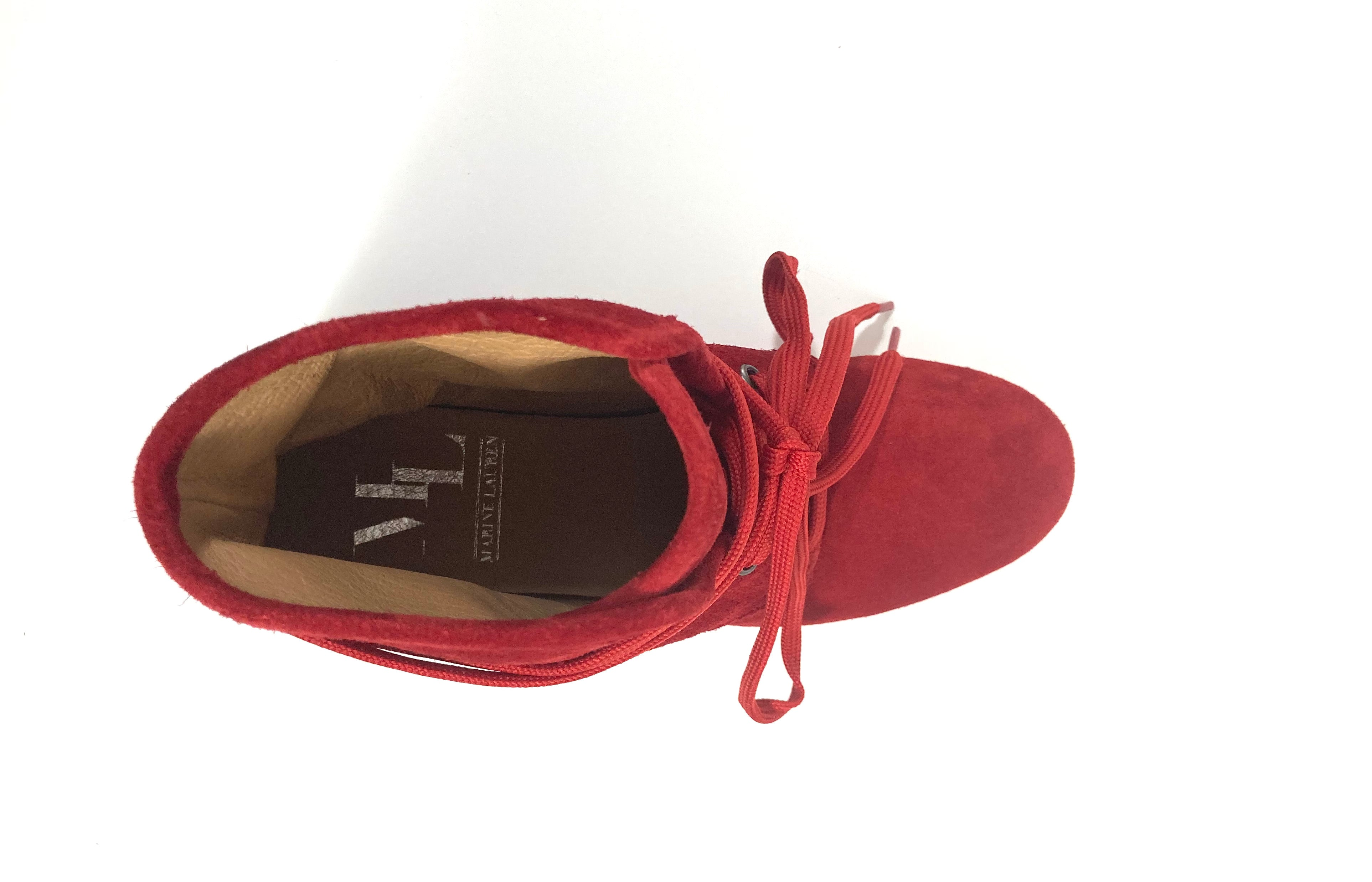 Ella lace up dance shoes red insole view
