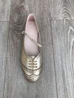 Swing Shoe Metallic top view