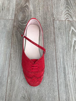 Swing Shoe Red top view