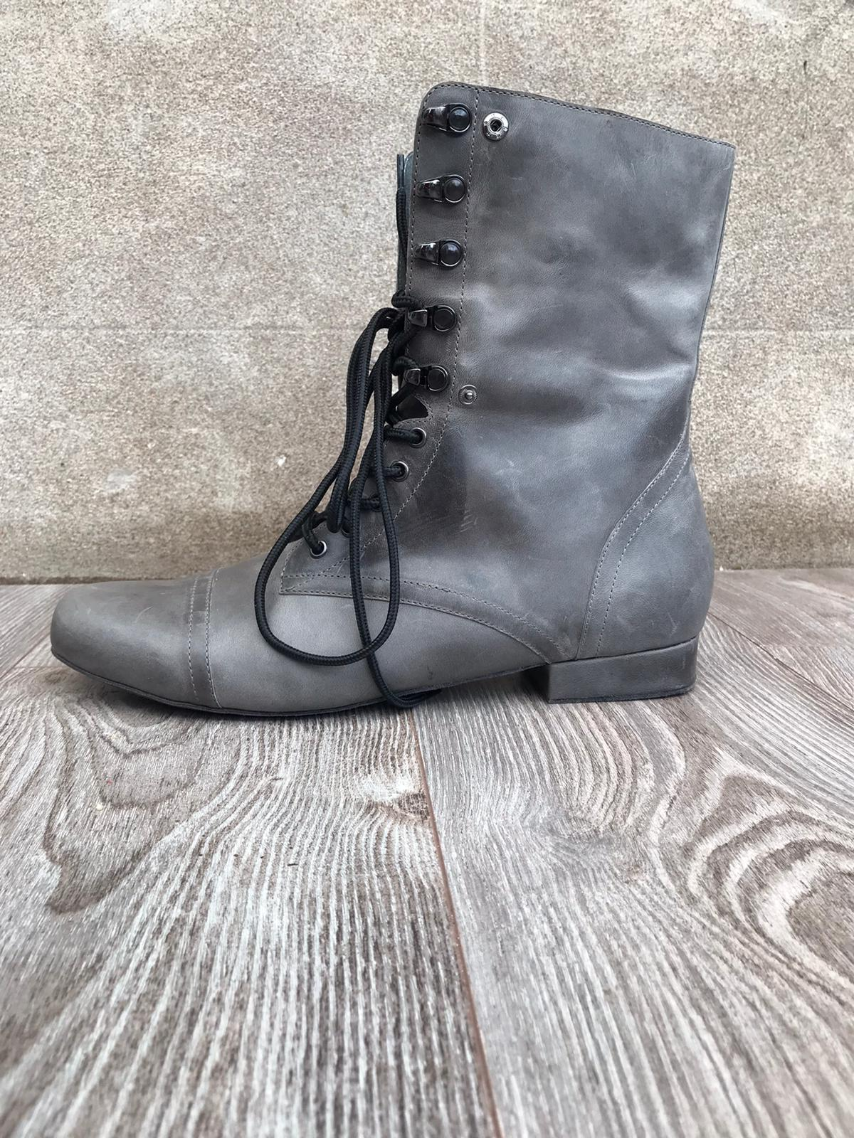Combat Boot for Dance Distressed Grey outside angle