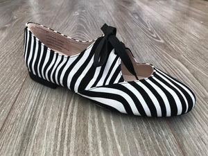 Zebra print dance jazz shoes