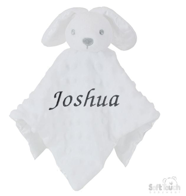 Personalised White Bubble Style Baby Bunny Comforter - Baby Styles
