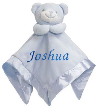 Personalised Baby Bear Blue Comforter With Satin Back & Trim - Baby Styles