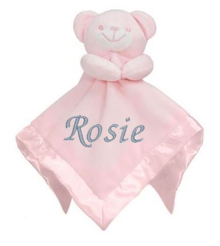 Personalised Baby Bear Pink Comforter With Satin Back & Trim - Baby Styles