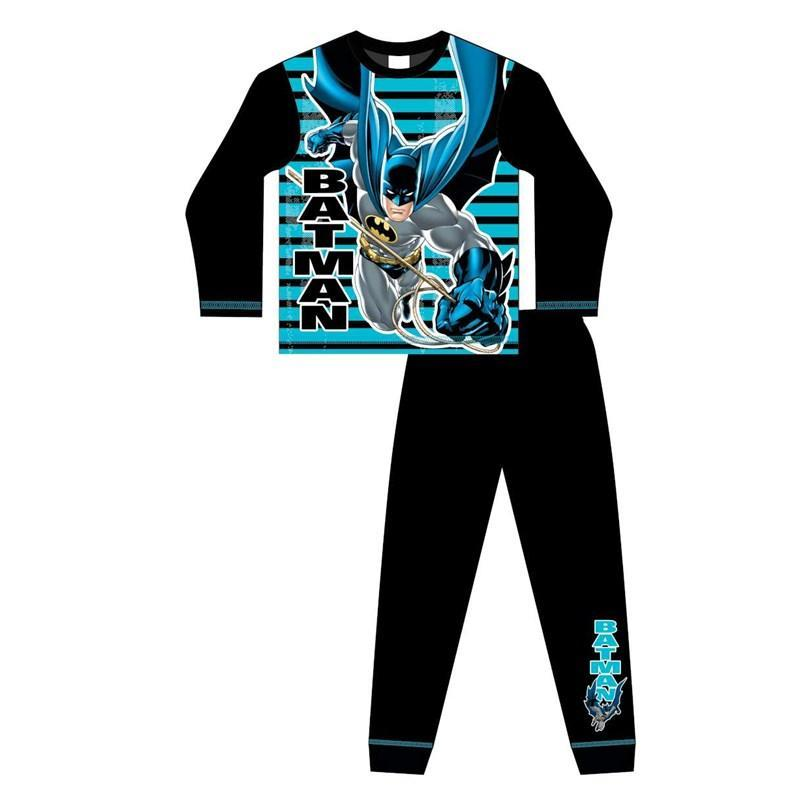 Kids Batman Style Boys Pyjamas Black & Electric Blue - Baby Styles