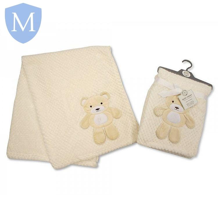 Baby Bear Waffle Blanket Wrap (BW-112-951) - Baby Styles