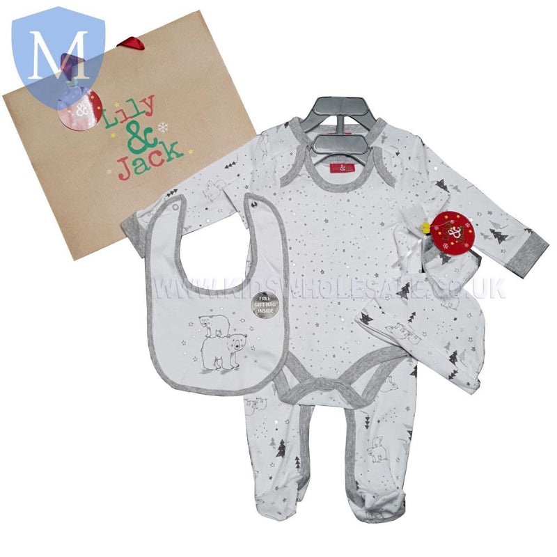 "Baby Christmas ""Polar Bear"" Style 5 Piece Gift Set () - Baby Styles"