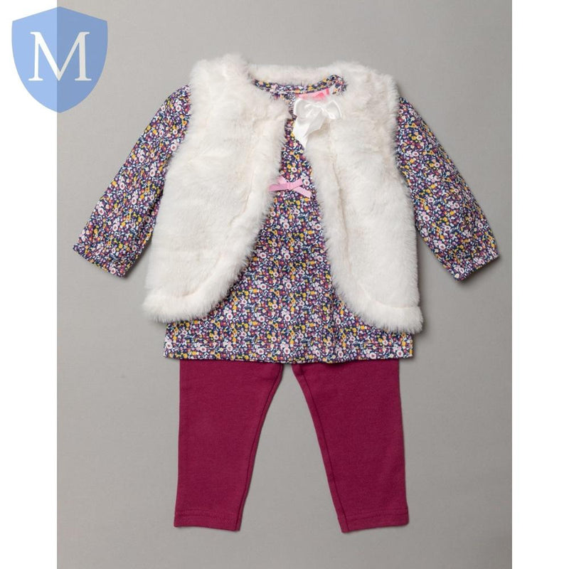 "Baby Girls ""Summer"" Style Outfit (Gilet, Leggings & Top) (S19449) - Baby Styles"
