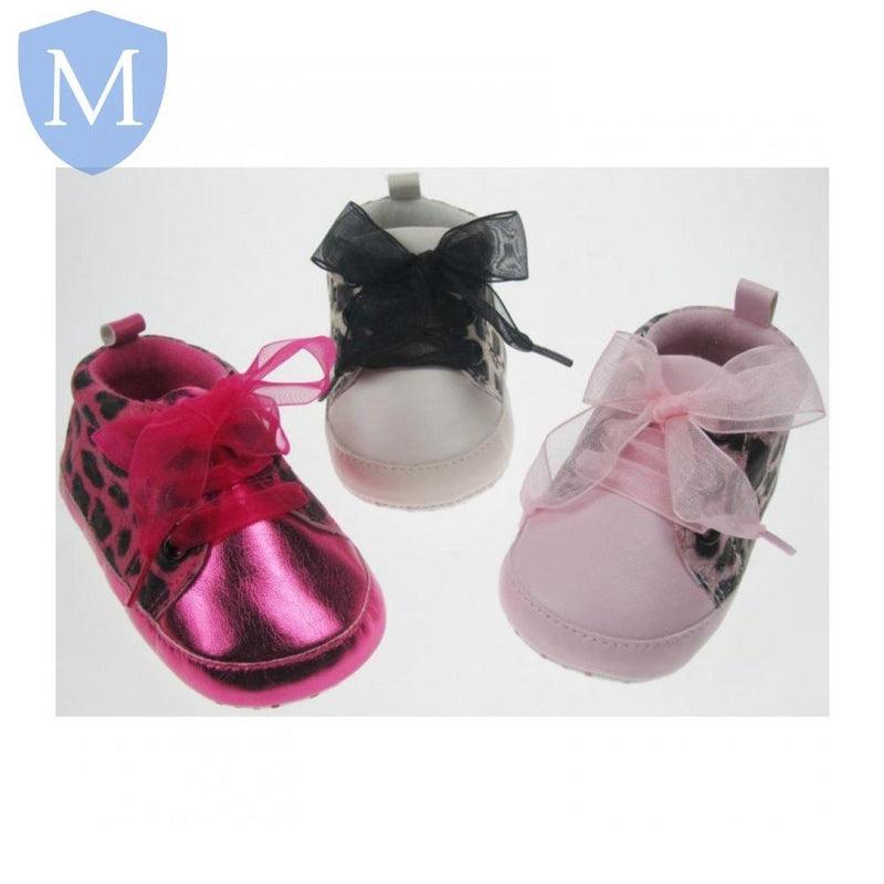"Baby ""Shiny Animal"" Style Lace-Up Shoes (B1303) - Baby Styles"