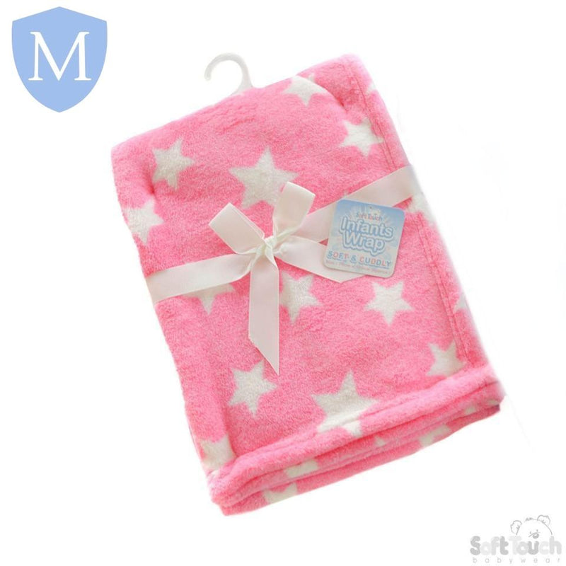 Baby Star Style Coral Fleece Blanket Wrap (4FBP150) - Baby Styles