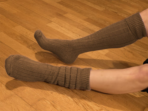 Knee Length Walking Sock with a Comfy Cushion Sole