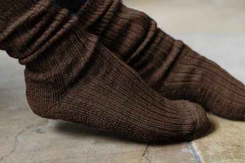 Rib Knit Cushion Sole Socks