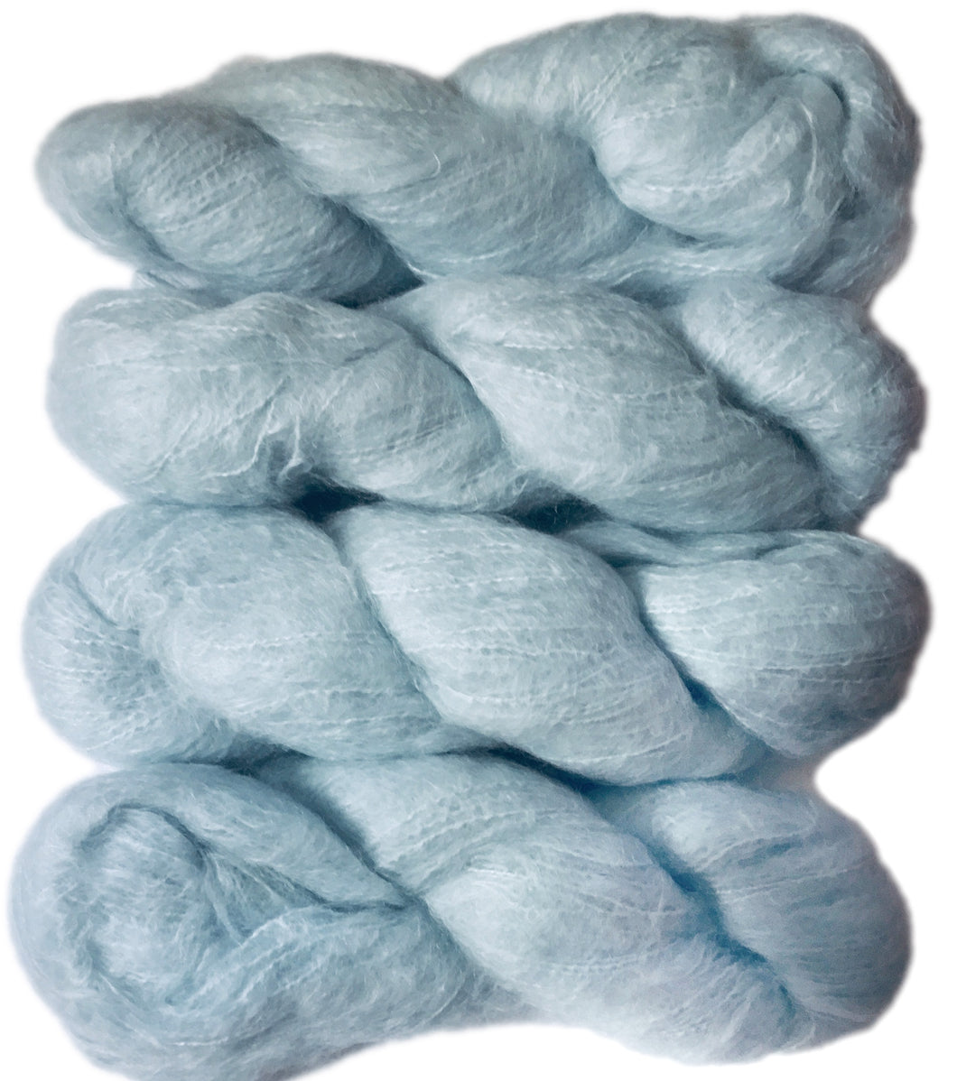 Super Kid Brushed Mohair Chunky Yarn in pale blue shade