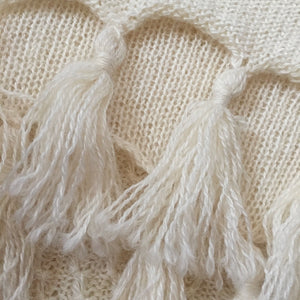Ethically Produced Hand Made Natural Fibre Warm Mohair stole.