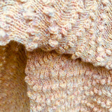 Load image into Gallery viewer, Pastel Textured knit wool and Angora fibre Stole