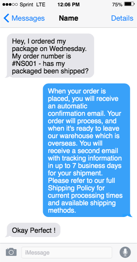 faq HAS MY PACKAGE BEEN SHIPPED