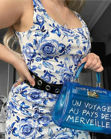 Fun In Paris Crossbody - Blue