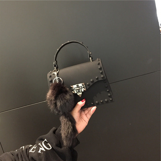 PVC Leather Handbag Black