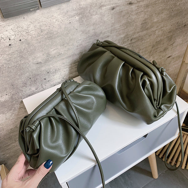 Jade Leather Clutch Crossbody
