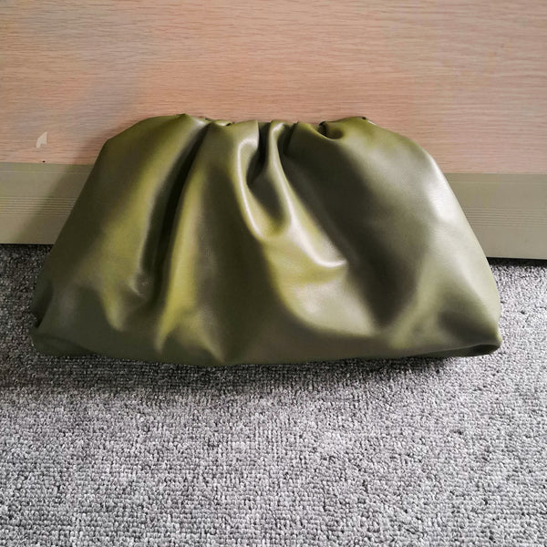 Jade Leather Clutch Handbag