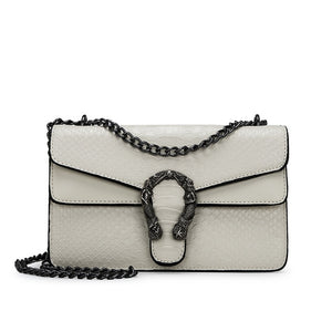 Nichesix Vegan Leather Handbag Cream Crossbody Mermaid Pearle