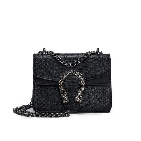 Mini Black Sepertine Leather Crossbody