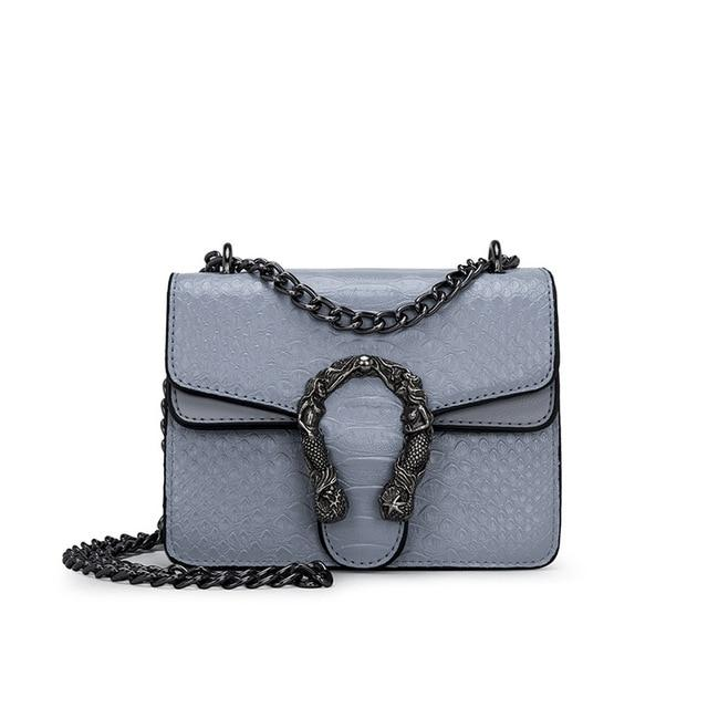 mini blue vegan leather Crossbody