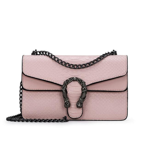 pink leather Crossbody  nichesix Serpetine vegan