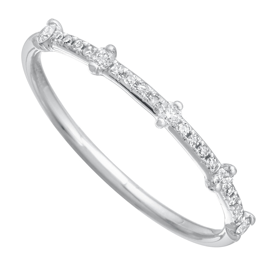 14k White Gold ECOMARK® Created Diamond Wedding Band Ring (1/6 cttw, E-F Color, VS2-SI1 Clarity)