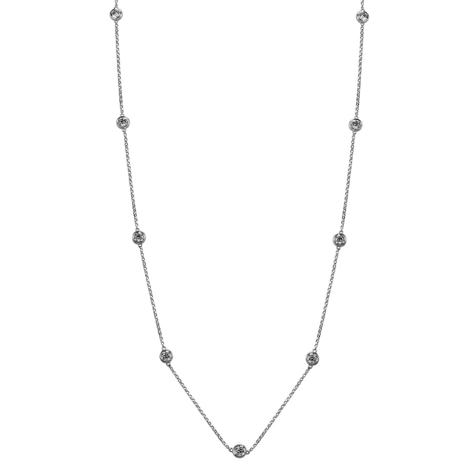14k White Gold ECOMARK® Created Diamond Strand Necklace (1.53 cttw, E-F Color, VS2-SI1), 16-18