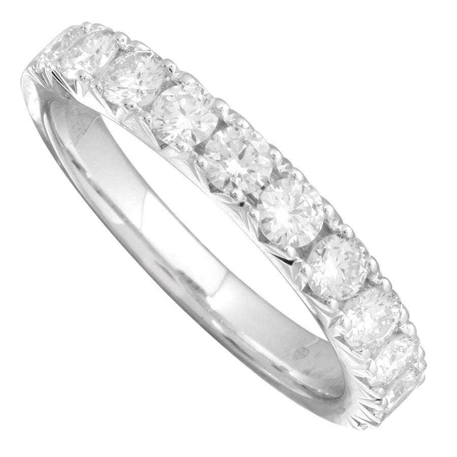 14k White Gold ECOMARK® Created Diamond Wedding Band Ring (1.05 cttw, E-F Color, VS2-SI1 Clarity) - ecomarkdiamonds