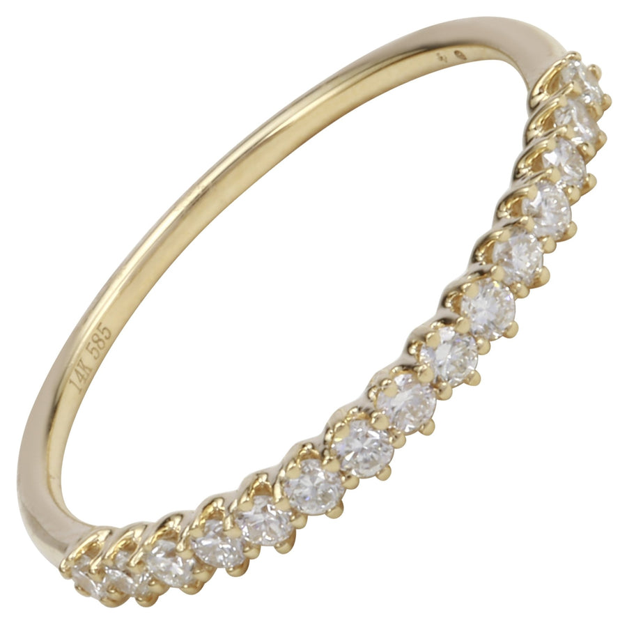 14k Yellow Gold ECOMARK® Created Diamond Anniversary Ring (1/4 cttw, E-F Color, VS2-SI1 Clarity) - ecomarkdiamonds