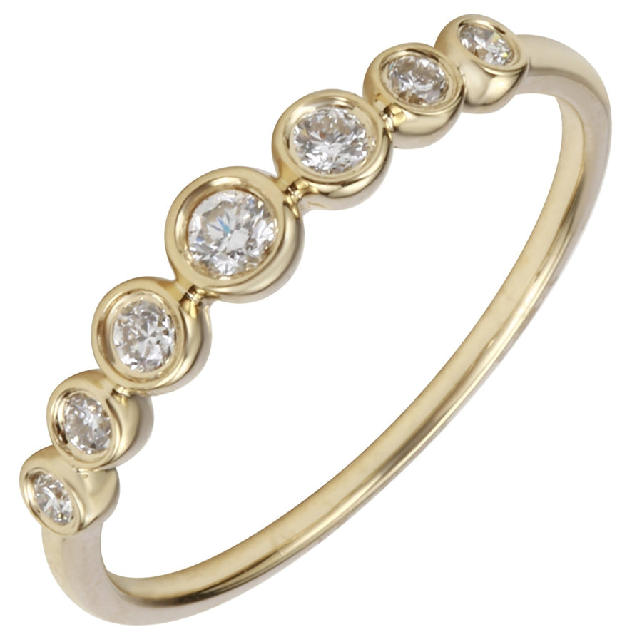 14k Yellow Gold ECOMARK® Created Diamond Layer Ring (1/5 cttw, E-F Color, VS2-SI1 Clarity) - ecomarkdiamonds