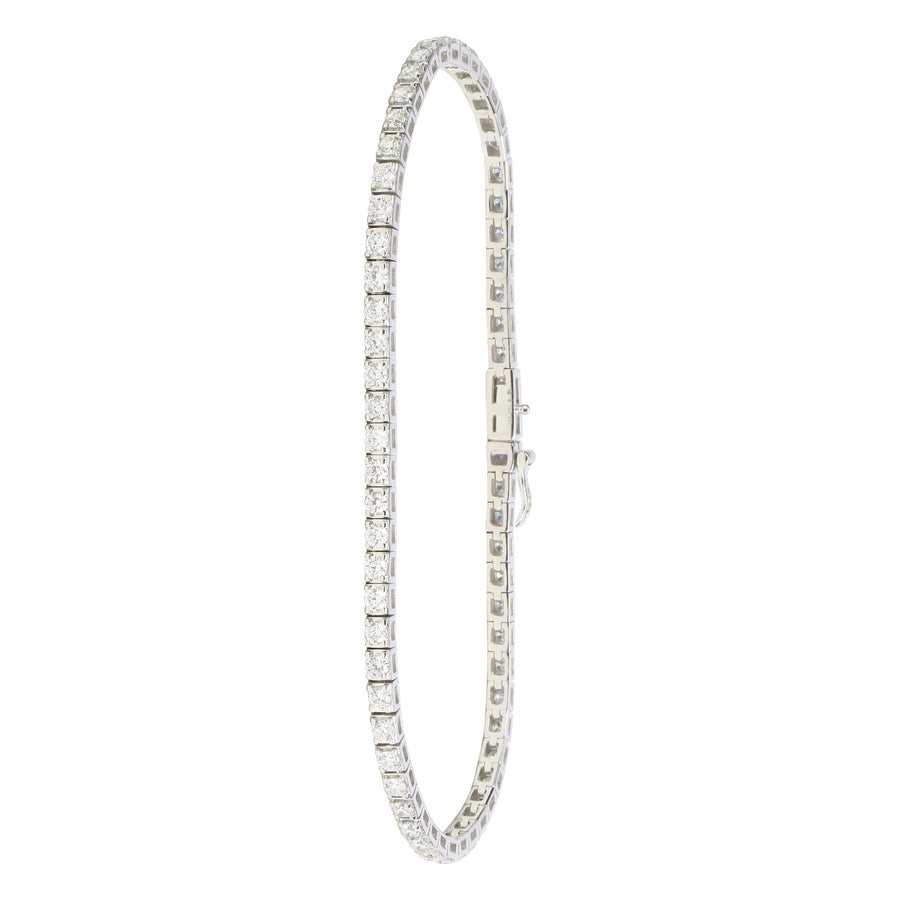 14k White Gold ECOMARK® Created Diamond Tennis Bracelet (2.12 cttw, E-F Color, VS2-SI1 Clarity), 7