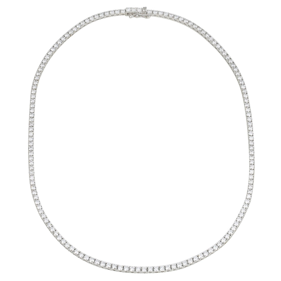 18k White Gold ECOMARK® Created Diamond Strand Tennis Necklace (9.63 cttw, E-F, VS2-SI1), 16.5